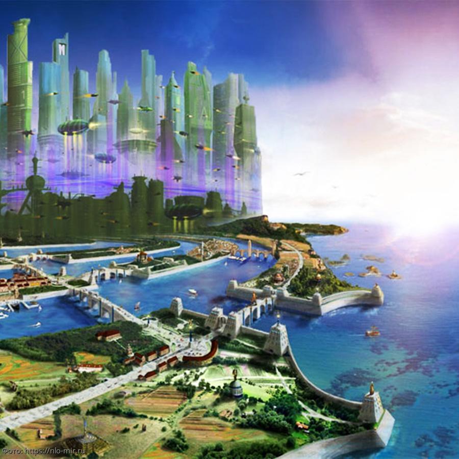 Макет города атлантов
