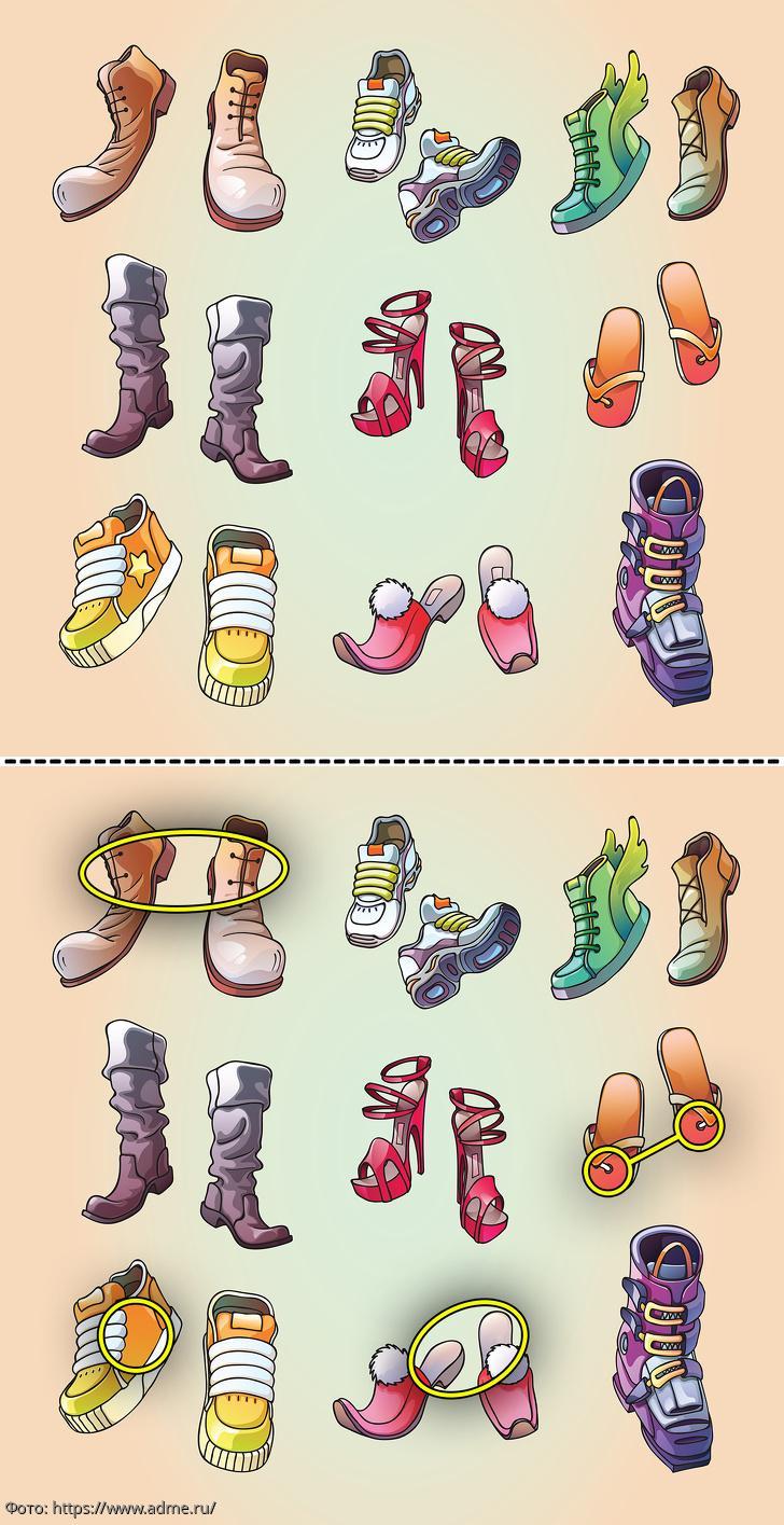 картинки найди отличия по теме одежда