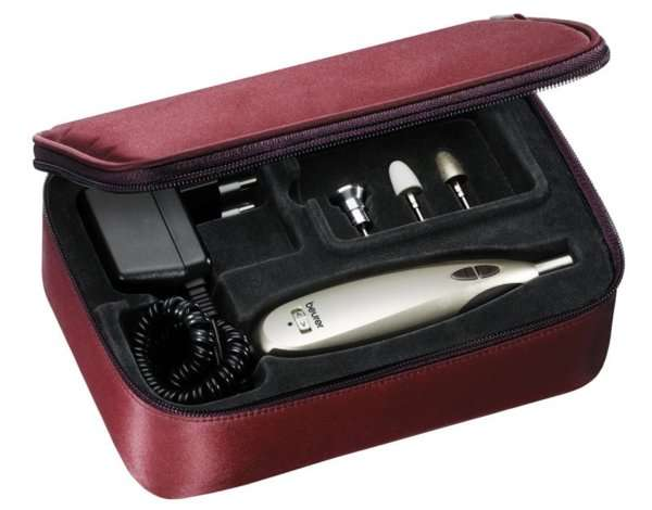 Аппарат Beurer MP60, 6100 об/мин, золотистый/черный/бордовый