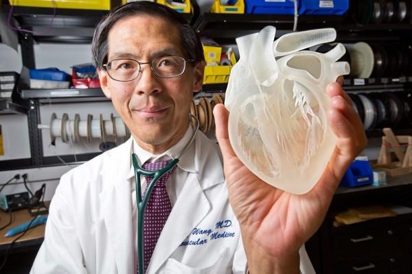 Платиковый имплантант человеческого сердца, полученный на 3D принтере